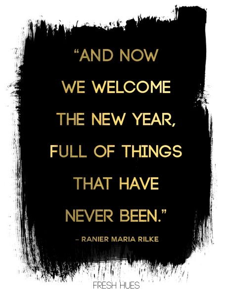 Welcome to New Year